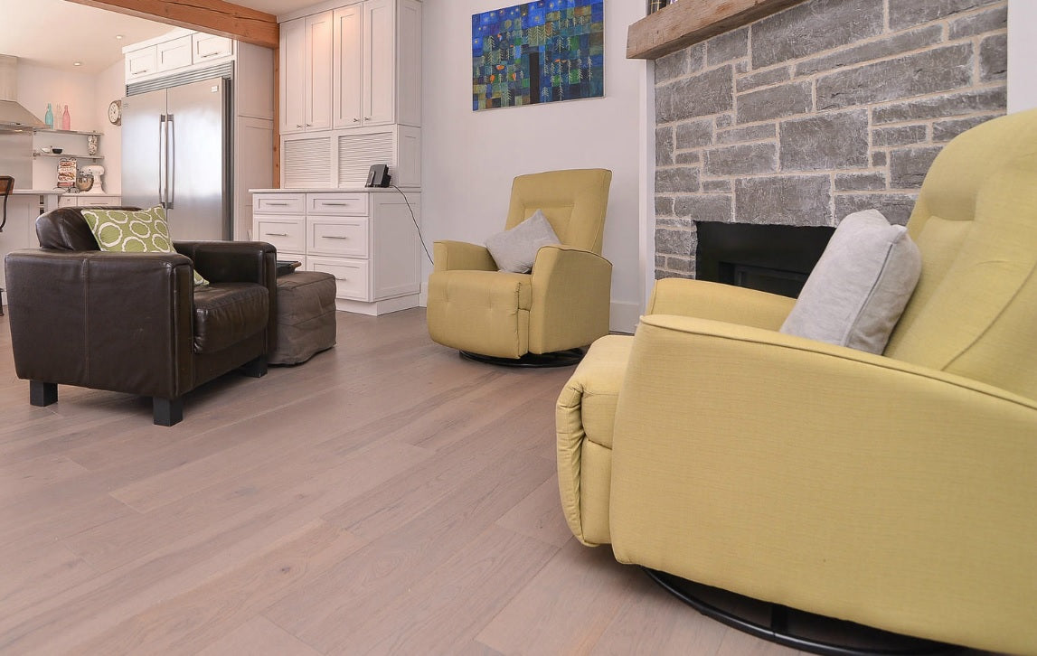 Hickory Wide Plank Flooring in Gray