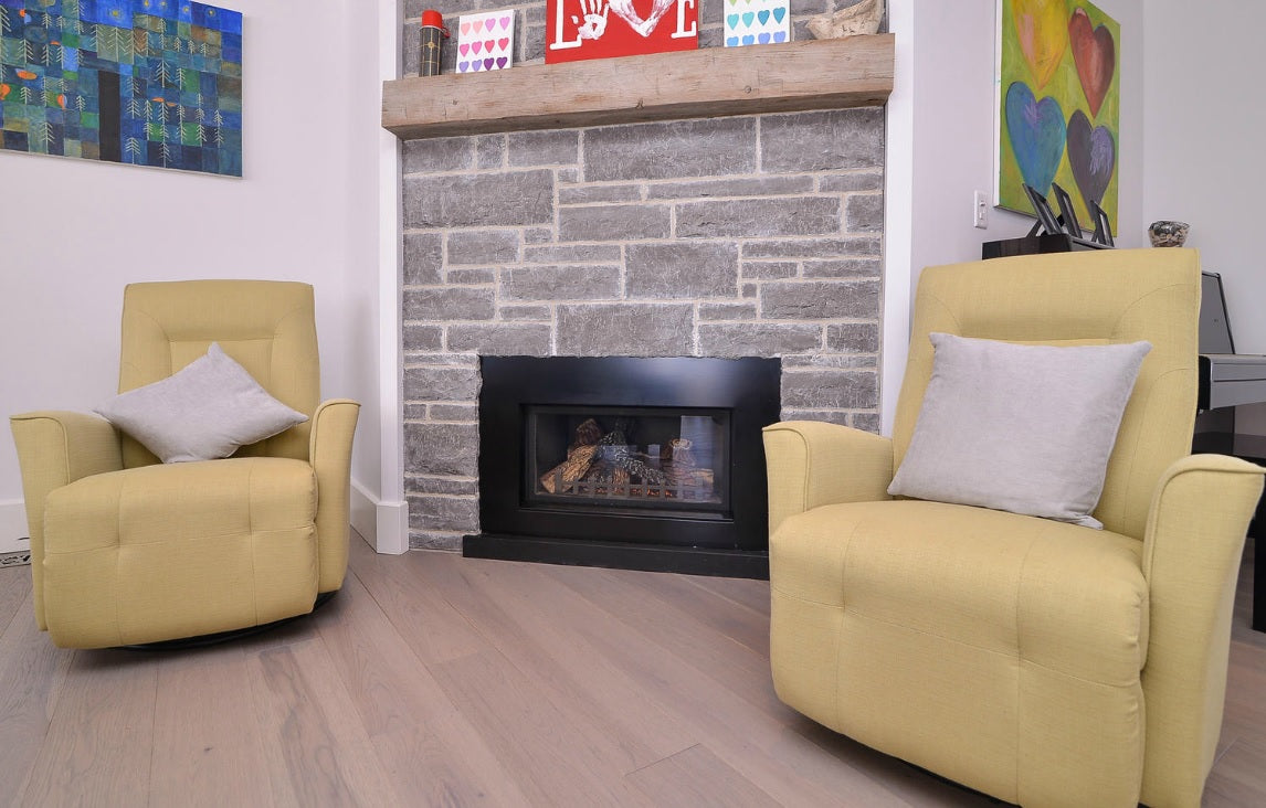 Custom Gray Hickory Hardwood Flooring
