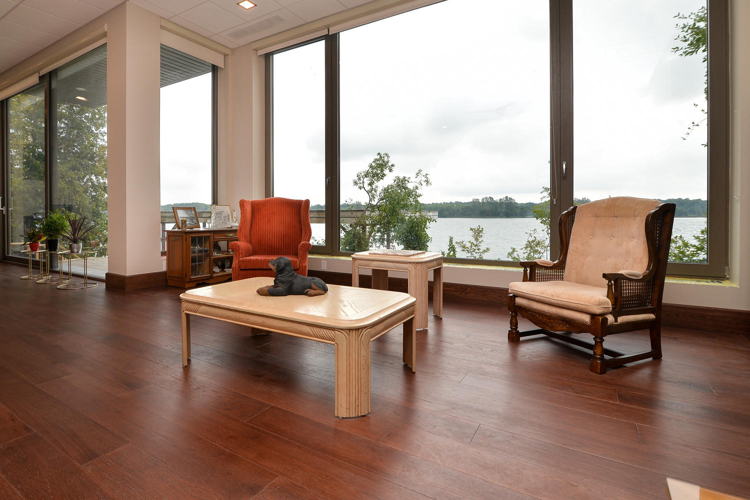 Hickory Wood Flooring in a living room