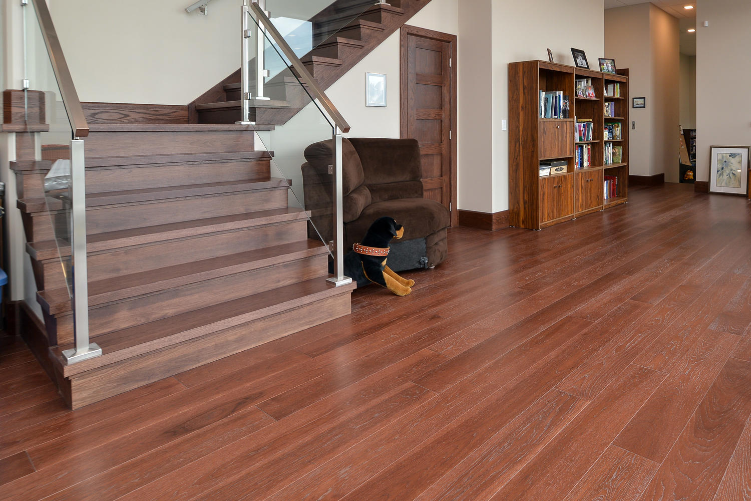 Hickory Wood Flooring custom wood flooring in a kitchen