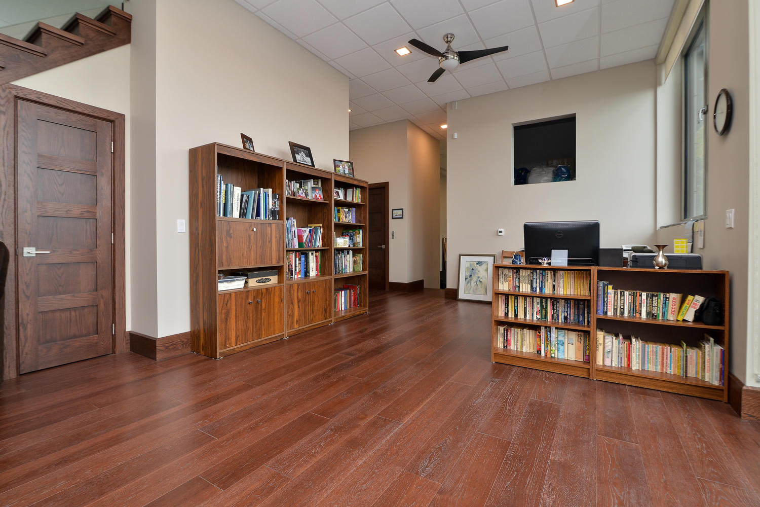 Hickory Wood Flooring in a custom home with wide planks