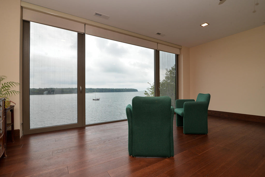 Hickory Hardwood Flooring overlooking a lake
