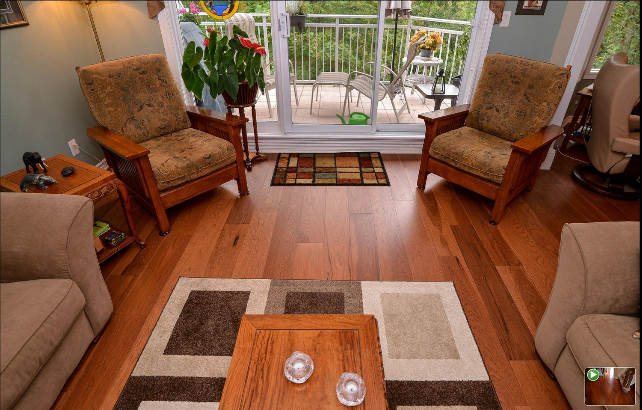 Custom hickory wood floors
