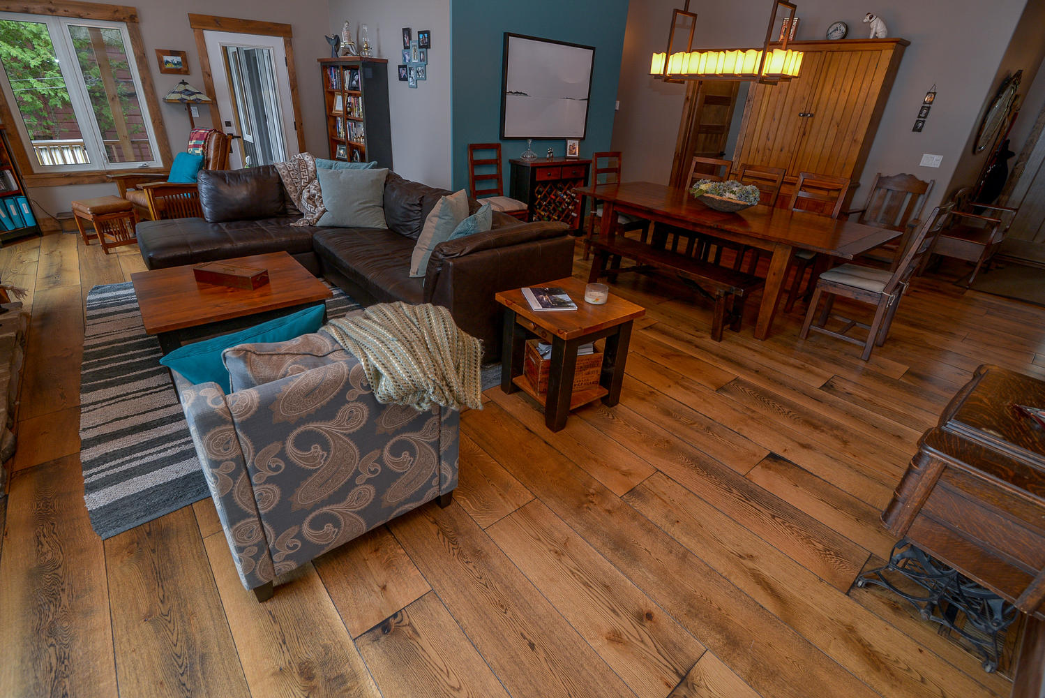 Pictures of Wide plank white oak flooring from planks up to a foot wide