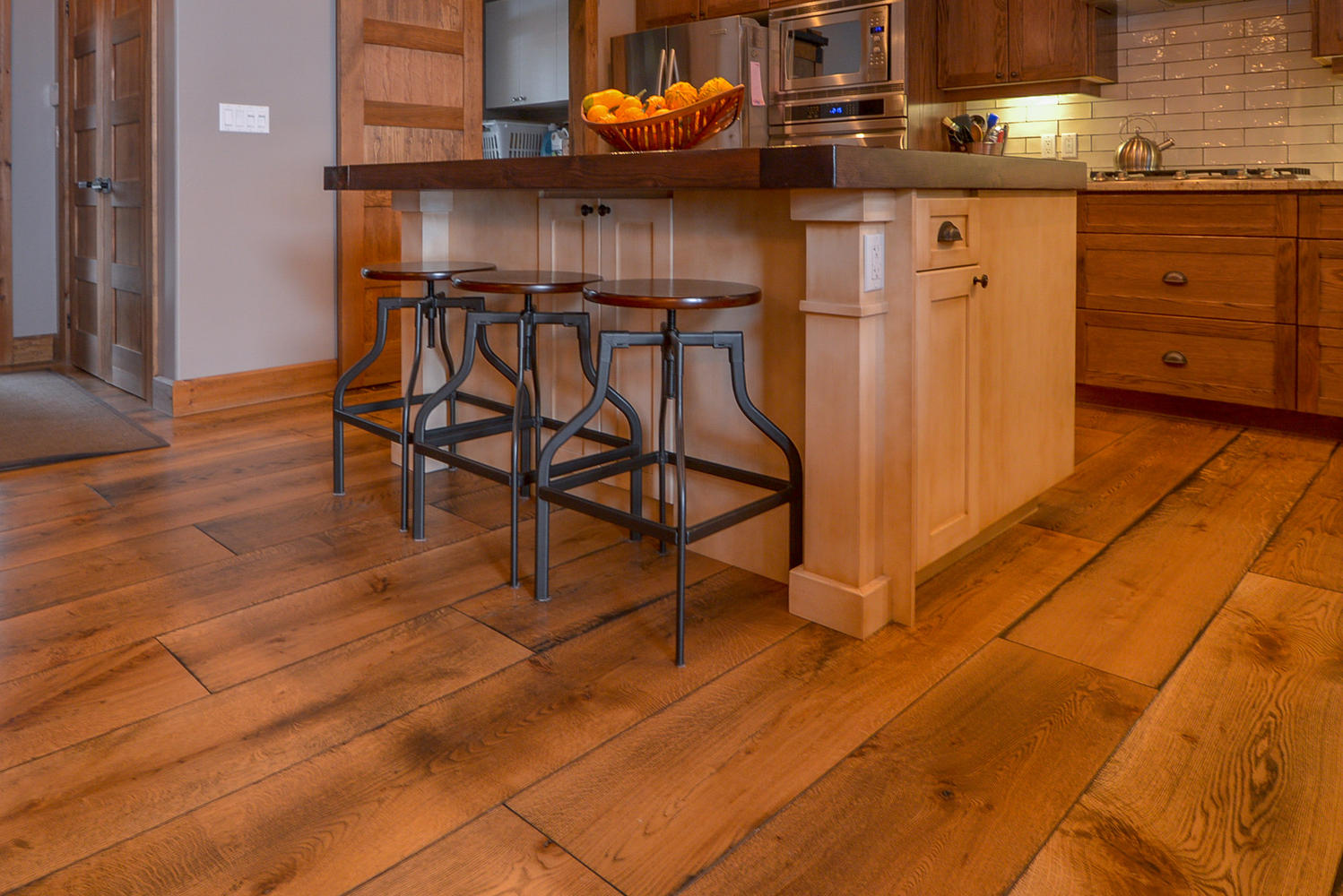 Photos of Wide plank white oak flooring in custom home