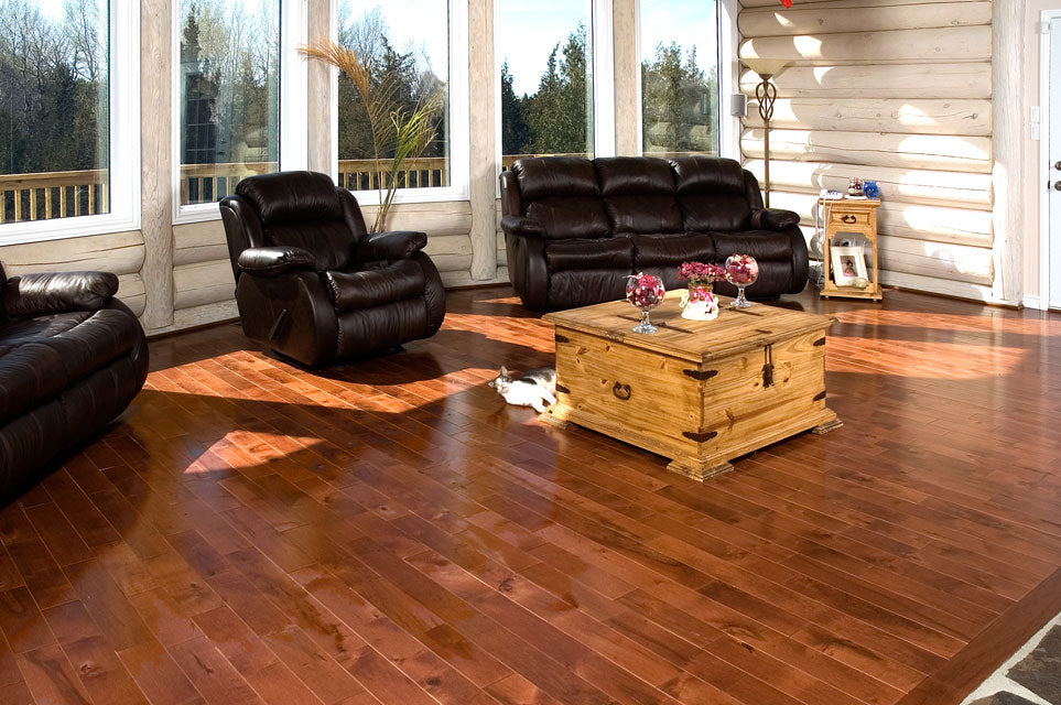 Rustic Maple Wood Flooring in a red tone