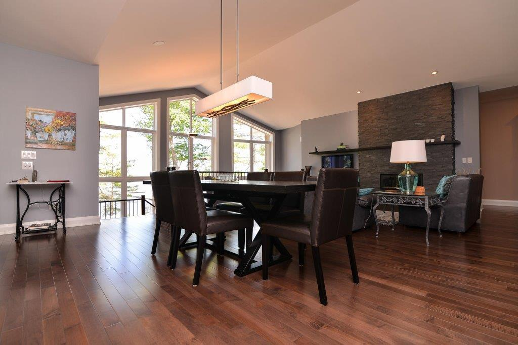 Maple Dark Hardwood Flooring Kitchen Table