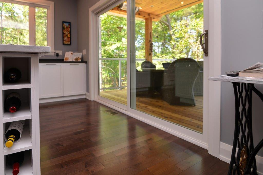 Maple Hardwood Flooring in a dark grey