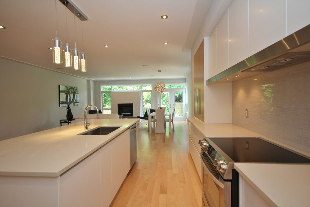 Maple Hardwood Flooring in a modern kitchen