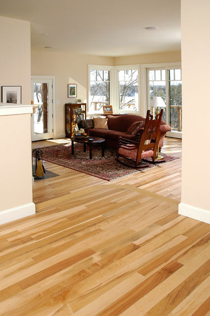 Maple custom wood flooring in a home setting