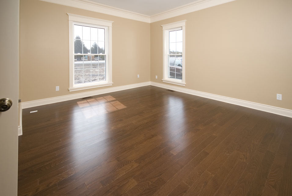 brand new hardwood flooring in a new home