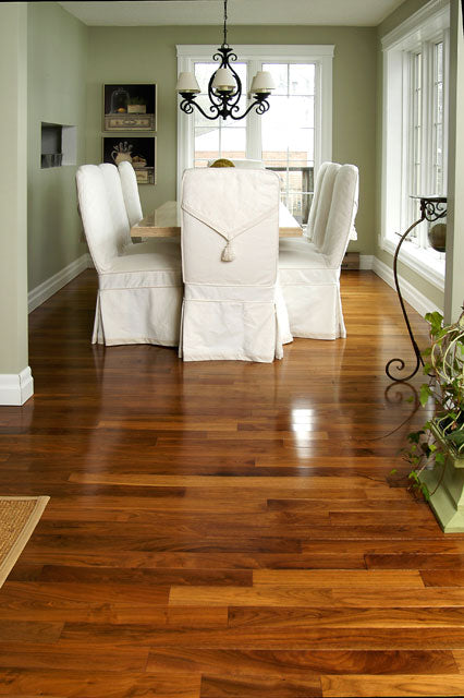 thin plank walnut wood flooring