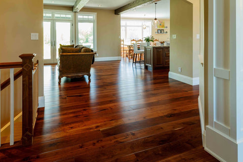 Natural Walnut wide plank flooring
