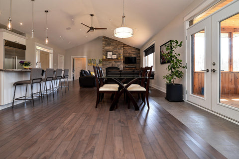 Maple Hardwood Flooring with a Grey Rustic Stain