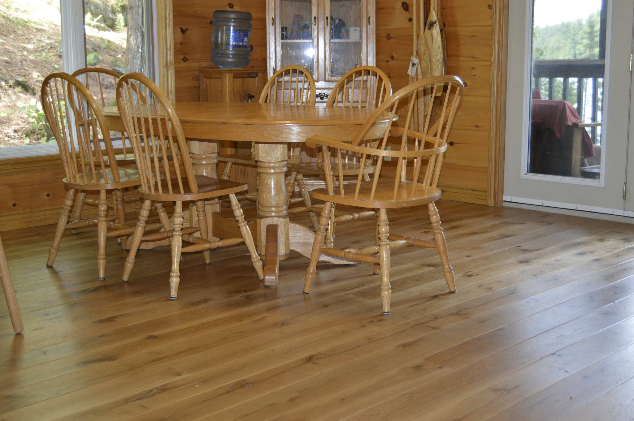 Wide plank white oak natural flooring