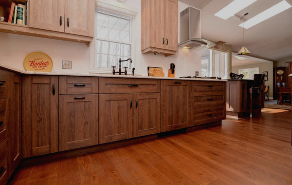 Wide Plank White Oak Hardwood Flooring Brandon Distressed - Gaylord Hardwood Flooring - Wood Flooring - 5