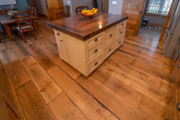 Wide Plank White Oak Hardwood Flooring Natural 1850 Distressed -  - 19