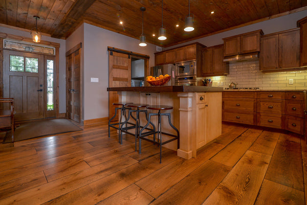 Wide Plank White Oak Hardwood Flooring Natural 1850 Distressed -  - 23