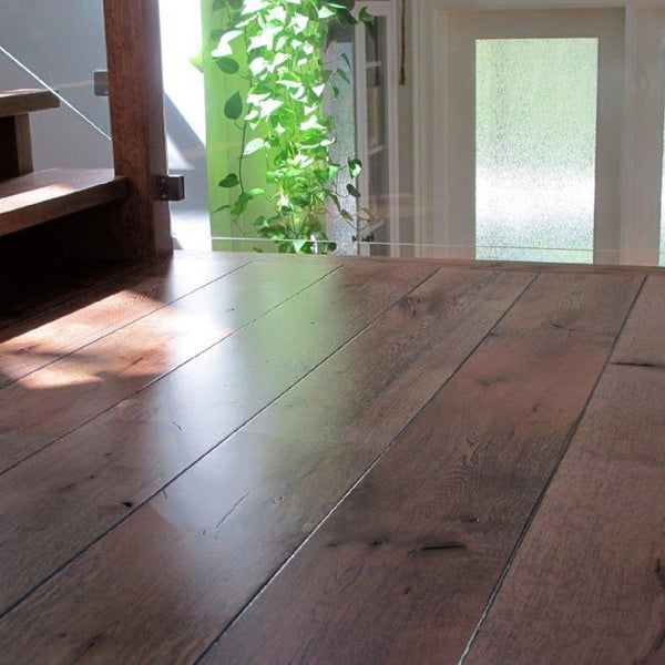 Wide Plank White Oak Hardwood Flooring Natural 1850 Distressed -  - 2