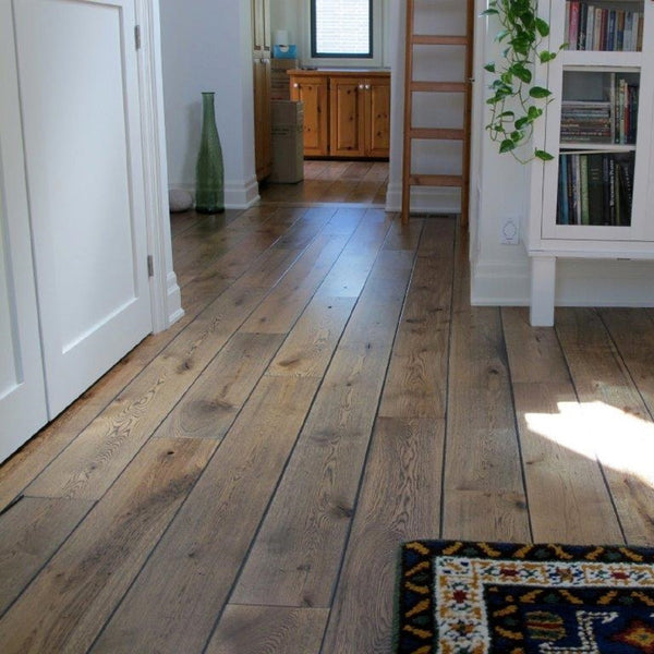 Wide Plank White Oak Hardwood Flooring Natural 1850 Distressed -  - 3