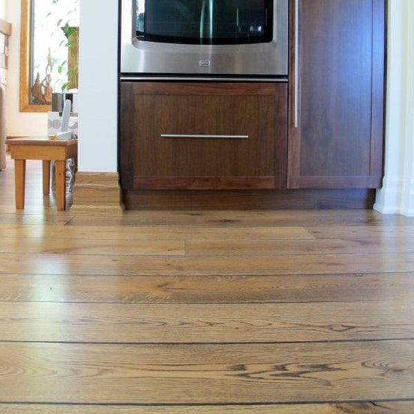Wide Plank White Oak Hardwood Flooring Natural 1850 Distressed -  - 4