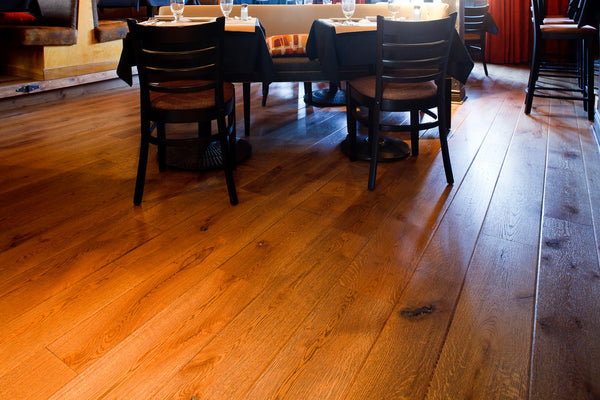 Wide Plank White Oak Hardwood Flooring Cognac Distressed -  - 4
