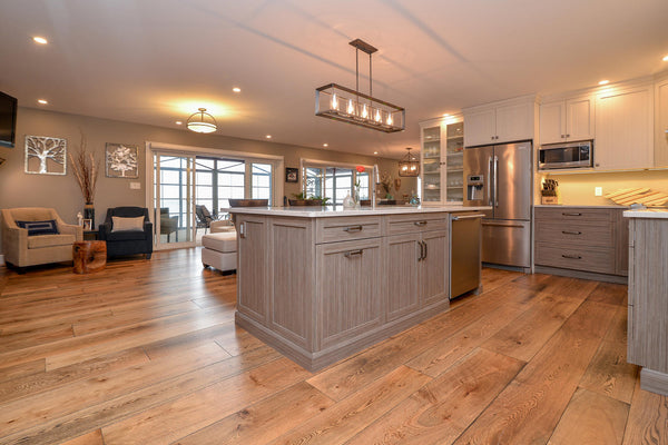 Wide Plank White Oak Hardwood Flooring Natural 1850 Distressed -  - 56