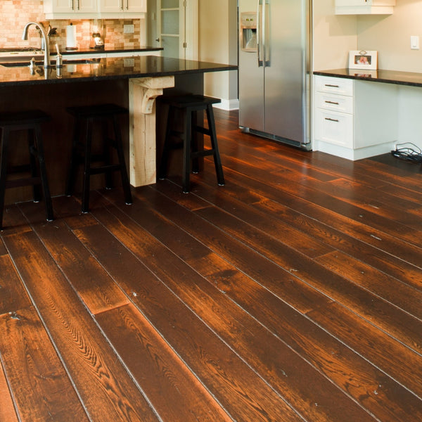 Wide Plank White Oak Hardwood Flooring Circa 1850 Distressed -  - 2