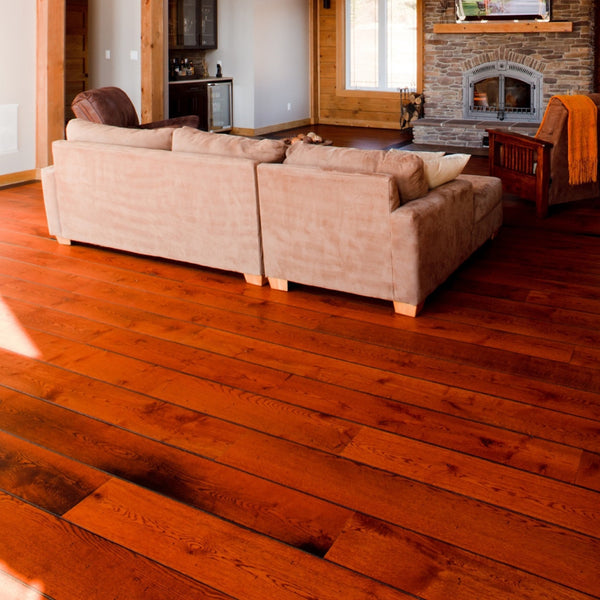 Wide Plank White Oak Hardwood Flooring Gran Marnier 1850 Distressed -  - 4