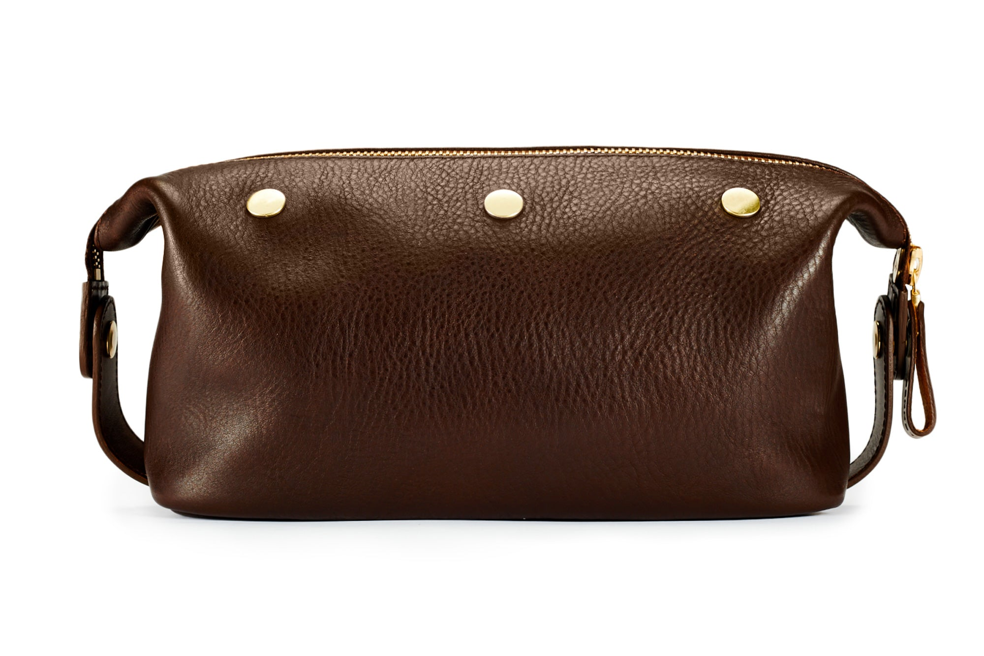 Wash Bag / Dopp Kit - Brown
