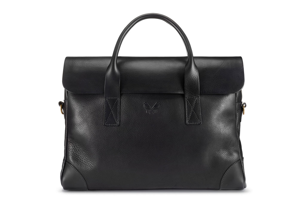 The Brief by Bennett Winch: Black Canvas Briefcase
