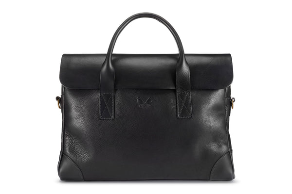 The Leather Brief - Black