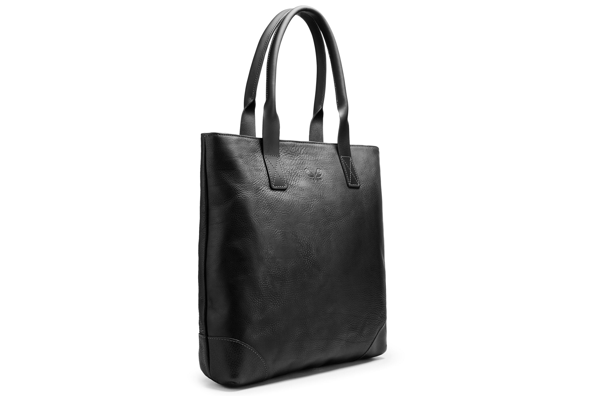 Full Leather Tote - Black