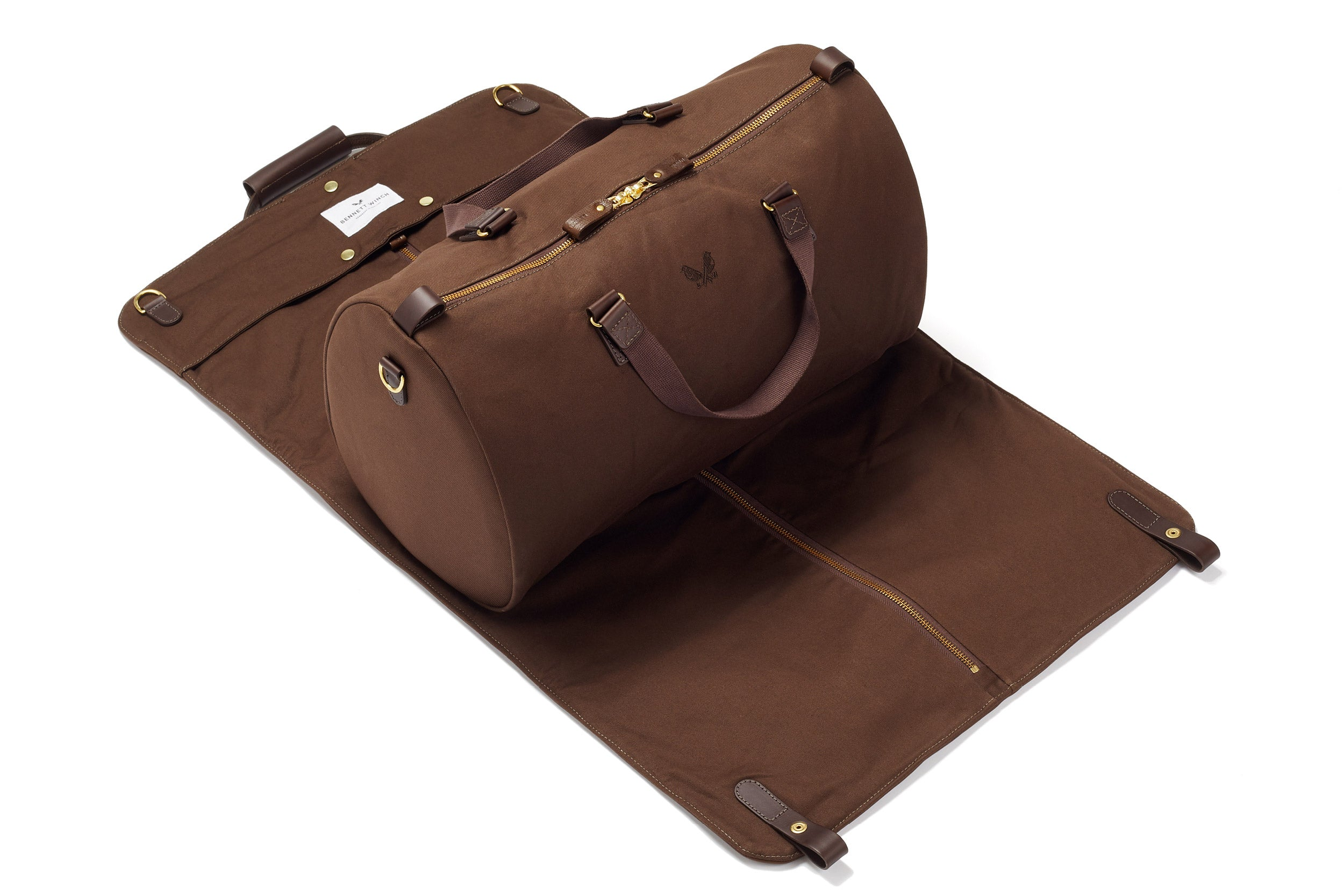 Leather S.C Holdall - Brown