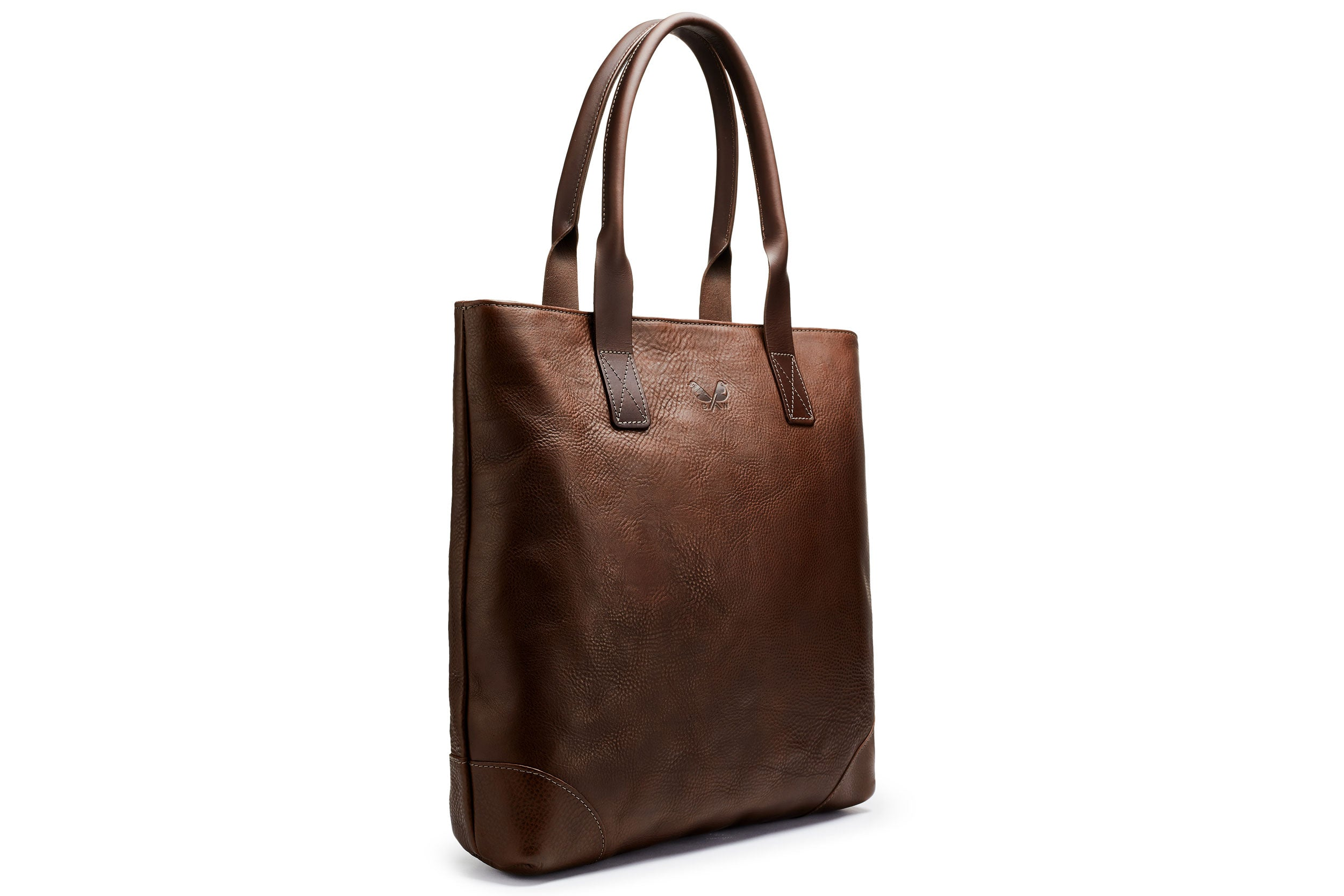 Full Leather Tote - Brown