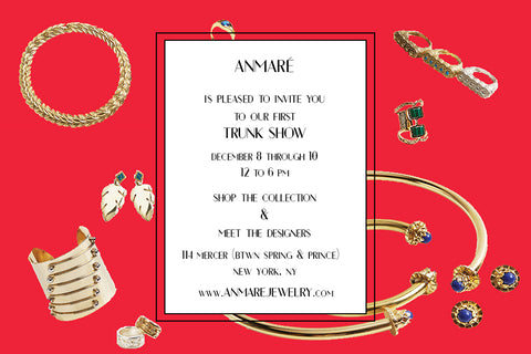 Anmaré Holiday Trunk Show Invite