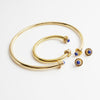 Anmaré Nile Lapis Earrings Bracelet and Choker