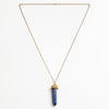 LAPIS STONE CAP NECKLACE