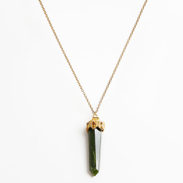Anmaré Jade Stone Cap Necklace