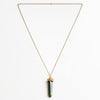 JADE STONE CAP NECKLACE<br><small>Sold Out</small>