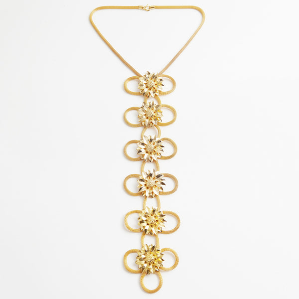 Anmaré Long Sunflower Necklace