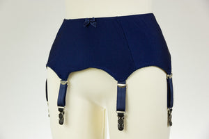 Blue 6 Strap GRETA Smooth and Simple Retro Style Garter Belt Size XS-4XL