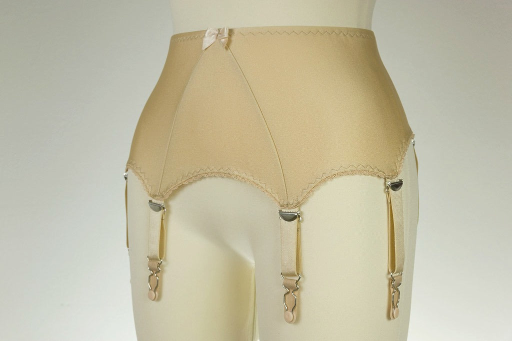 Black Wide LOLA High waist Suspender Belt Retro Style White Beige Garter Belt with 6 straps - size XS-4XL