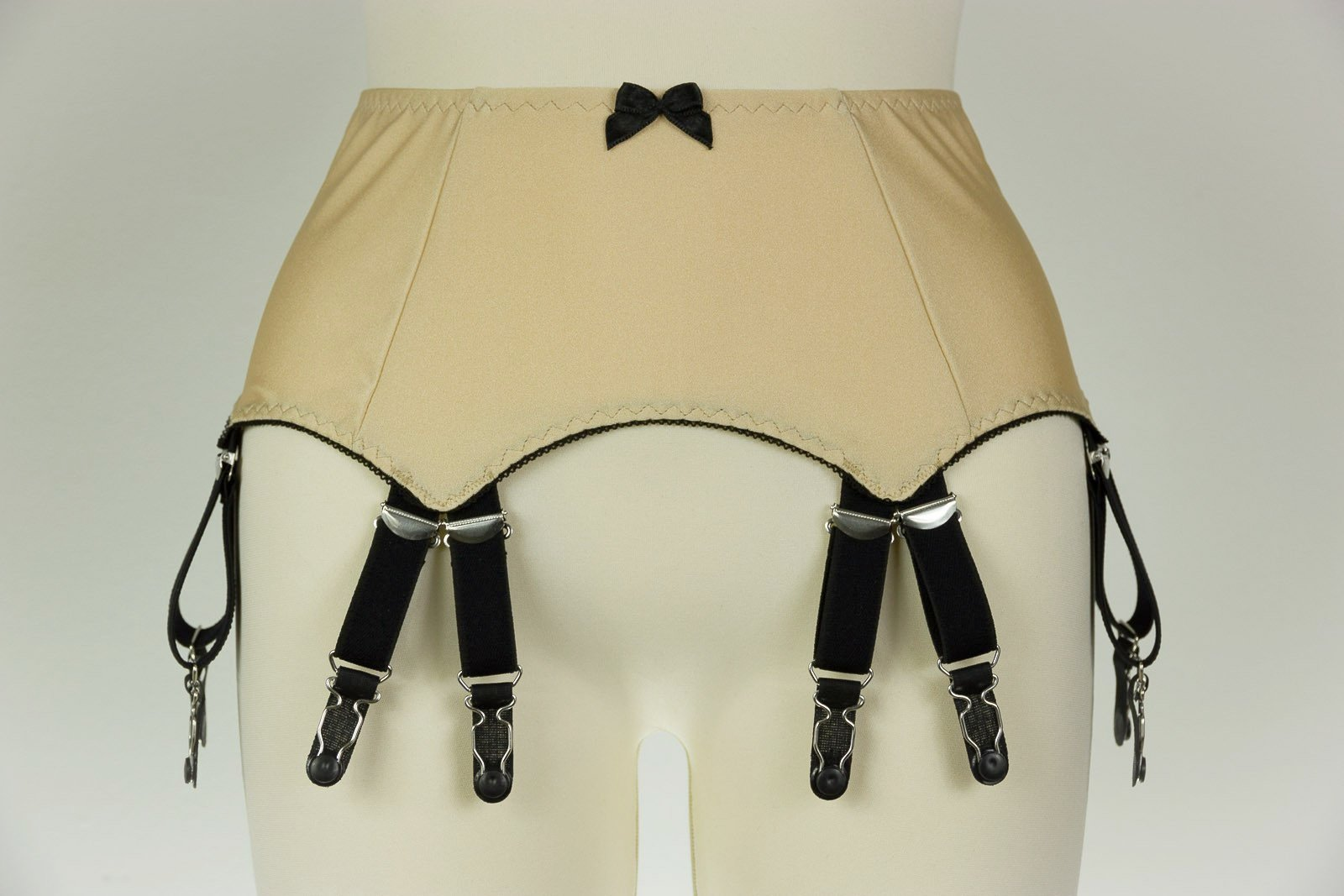Double 12 Strap JOAN Suspender Belt Fetish Garter Belt - Size S-4XL