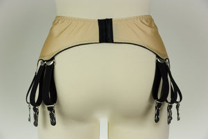 12 Strap JOAN Suspender Belt Fetish Garter Belt - Size S-4XL