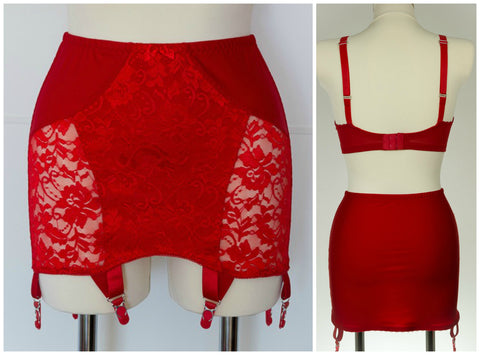 Red WANDA Open Bottom Girdle Pull On Light Control OBG size S-2XL