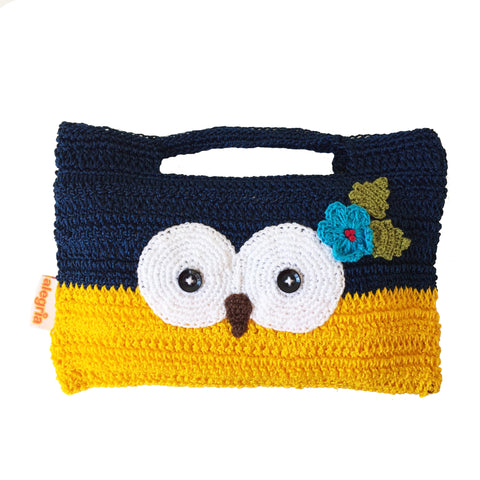 Ziggie the Owl - Owl crochet bag | Eule Häkeltaschen
