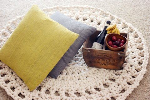 Crocheted Rug For Rustic Decor