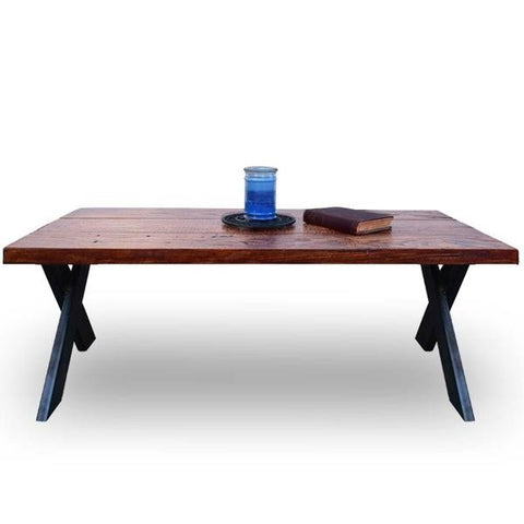Edge Contemporary Coffee Table With X Legs