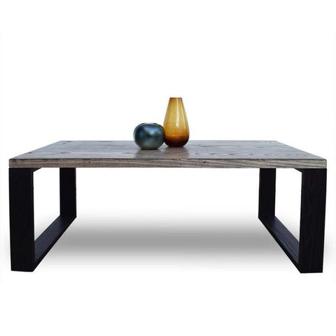 Zen Contemporary Coffee Table With Square Wooden Legs